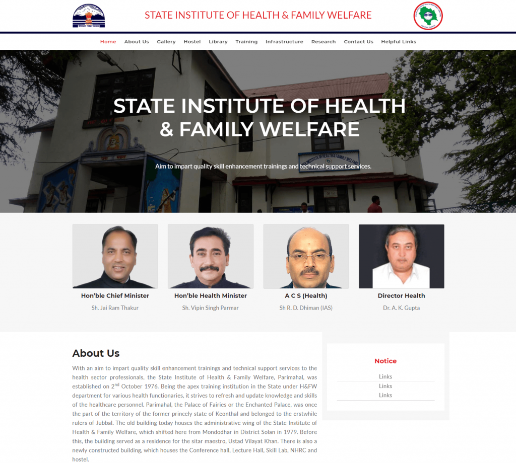 State Institute Of Health And Family Welfare