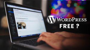 WordPress is Free of Cost
